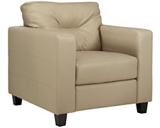 Serina Beige Bonded Leather Chair