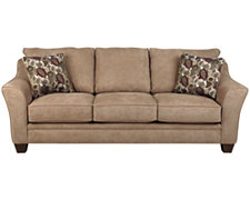 Drew2 Lt Brown Microfiber Sofa