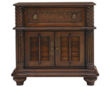 Palm Dark Tone Door Nightstand