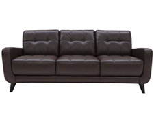 Venus Dk Brown Leather Sofa
