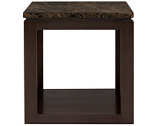 Becca Dark Tone Faux Stone End Table