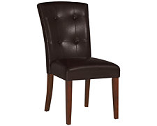 City Lights Dk Brown Upholstered Side Chair