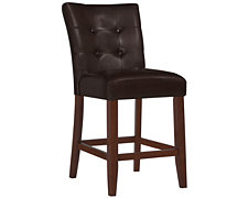 "City Lights Dk Brown 24"" Upholstered Barstool"