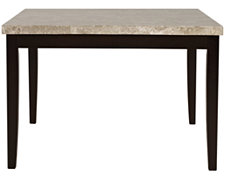 Monark Square Marble High Dining Table