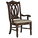 Dark Tone Wood Arm Chair