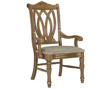 Tradewinds Light Tone Wood Arm Chair