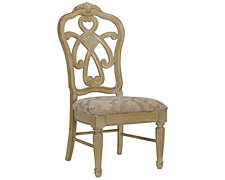 Regal Light Tone Wood Side Chair