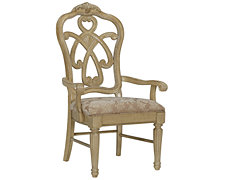 Regal Light Tone Wood Arm Chair