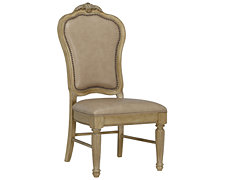 Regal Light Tone Leather Side Chair