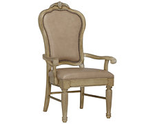 Regal Light Tone Leather Arm Chair