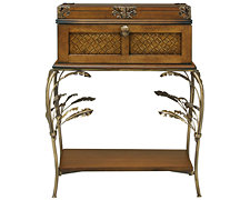 Palm Mid Tone Metal Nightstand