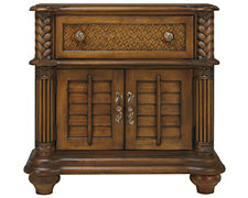 Palm Mid Tone Door Nightstand