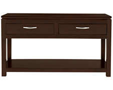 Perimeter Dark Tone Storage Sofa Table