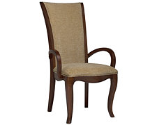 Avalon Dark Tone Upholstered Arm Chair