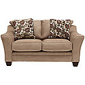 Lt Brown Microfiber Loveseat