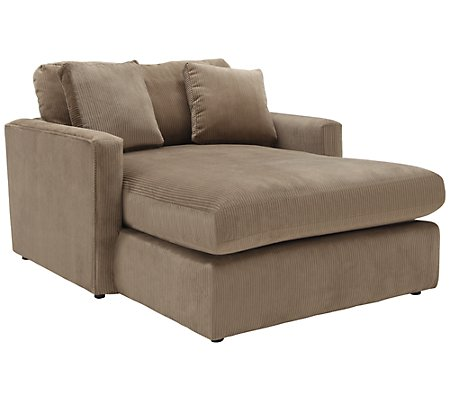 Tara2 dk taupe micro chaise for Boca chaise pillow