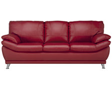 Malta2 Red Leather & Vinyl Sofa