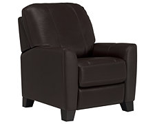 Fallon Dk Brown Leather & Vinyl Recliner