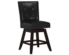 "Monark Black Swivel 24"" Upholstered Barstool"