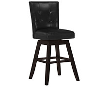 "Monark Black Swivel 30"" Upholstered Barstool"