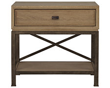 Forecast Light Tone Metal Nightstand