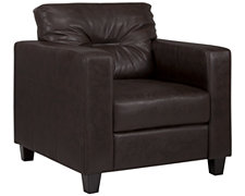 Serina Dk Brown Bonded Leather Chair