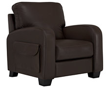 Crista2 Dk Brown Leather & Vinyl Recliner
