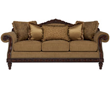 Ella Md Brown Fabric Sofa