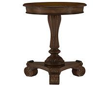 Gail Mid Tone Pedestal Table
