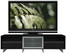 Quadra Black Large TV Stand