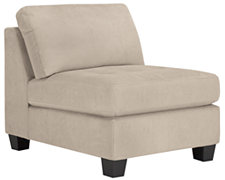 Mercer2 Lt Taupe Microfiber Armless Chair