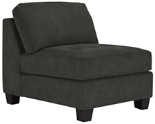 Mercer2 Dk Gray Microfiber Armless Chair
