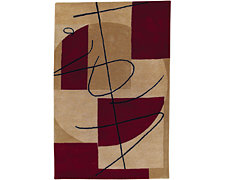Zen Red 5X8 Area Rug