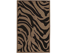 Zebra Brown 8X11 Area Rug