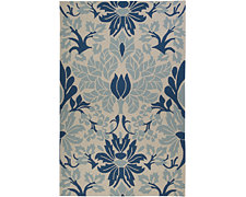 Rain Blue Indoor/Outdoor 5x8 Area Rug