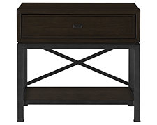 Forecast Dark Tone Metal Nightstand