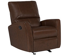 James Md Brown Bonded Leather Rocker Recliner
