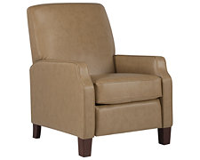Rhett Taupe Bonded Leather Recliner