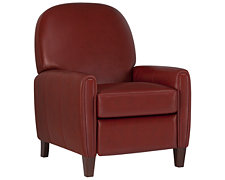 Alexa Red Bonded Leather Recliner