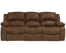 Tyler2 Md Brown Microfiber Reclining Sofa