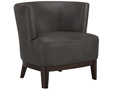 Aldo Dk Gray Bonded Leather Accent Chair