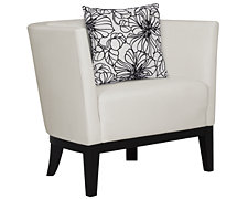 Sasha White Microfiber Chair