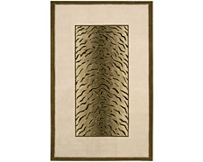 Zebra Trim Brown 5X8 Area Rug