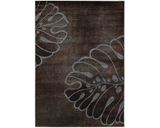 Palm Blue 8X10 Area Rug