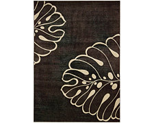 Palm Lt Beige 5X8 Area Rug