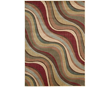Wave Multi 8X10 Area Rug