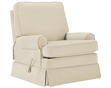 Levi Beige Cotton Glider Recliner
