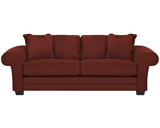 Jesi3 Red Microfiber Sofa