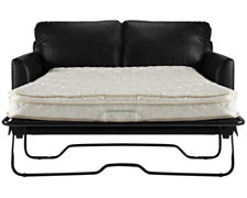 Paige Black Bonded Leather Sleeper