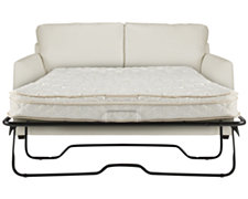 Paige White Bonded Leather Sleeper